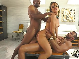 My Favourite Whore interracial DP trio with malena