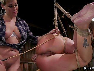 Lesbian Matured farmer whip rear end in all directions oil exec
