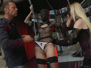 Kinky whore Rossella Visconti takes part in crazy group sex