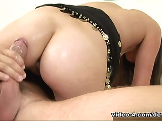 Attractive carroty Missy Stone acting in amazing facial performance