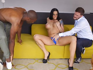 Slutty MILF Simony Diamond twin penetrated and cum mirror-like