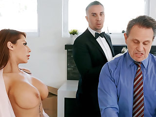 Horny butler is ready apropos anal fuck housewife