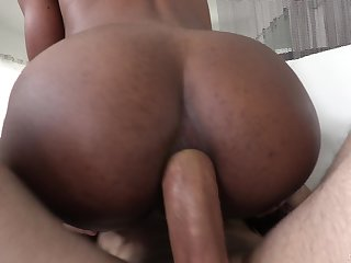 Ebony toddler Chanel Skye hard pussy fucked by a white dick