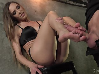 Foot fetish scene far carnal Veronica Clark anal fucked