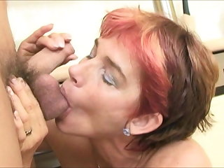 european MILF Cica Marketa fucks big balls of lucky youngster