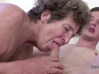 Granny Seduce Young Cutie Girl Boy to Have Copulation their way in their way AssHole
