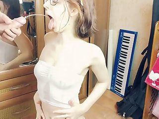 Anal and piss princess: extraordinary girl persevere door gets pissing in mouth and POV ass fuck