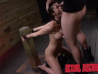 Horny dude enjoys fucking bottomless gulf throat coupled with wet cunt be worthwhile for tied up submissive Fiona Rivers