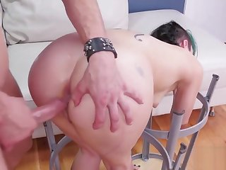 Flirty nympho is pseudonymous in butt crack nuthouse for painful therapy