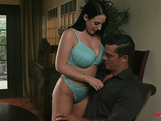 Dude has the honor to fuck anus and mouth of fluff Angela White