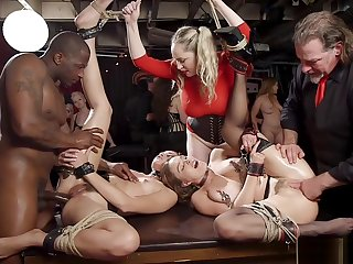 Slaves interracial anal banged not susceptible table
