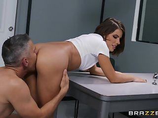 Suspect Adriana Chechik butt plug and fucking with respect to prove she is innocent