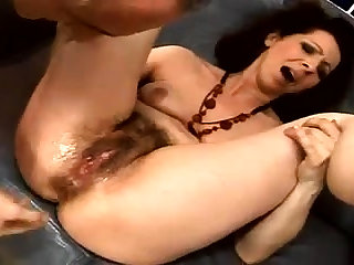 Impediment fucking for a hairy pussy