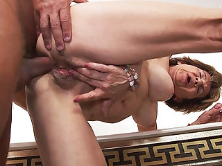 79 years old female parent anal with stepson
