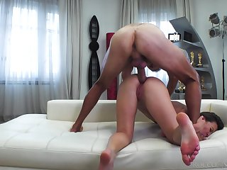 Wild blowlerina with sexy contraband Alessandra Amore is made be proper of hard anal
