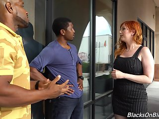 Well-proportioned white milf Lauren Phillips is fucked by duo hot blooded black guys