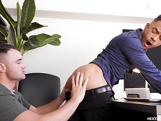 Gay lovers share the office be required of some kinky moments together