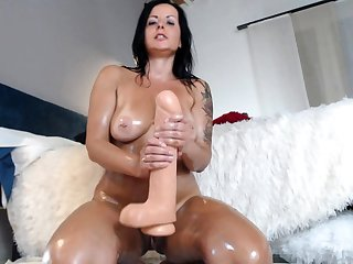 Bareback anal sex with seething brunettes with big boobs