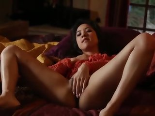 Enticing bushy oriental young call-girl Mila Dig out at hand hot masturbation sexual intercourse video