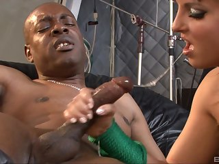 Great interracial get some shut-eye to kinky blonde chick Lexi Love