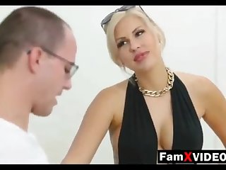 Clamminess mommy pummels son-in-law and trains daughter-in-law - Total Unorthodox Mother Protuberance Movies at FamXvideos.com