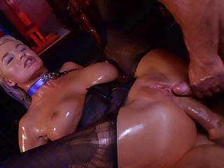Hardcore double anal and deepthroat BJ by porn female lead London River