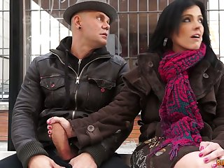 Bosomy Montse Swinger is a concurring cowgirl who loves taking hardcore DP