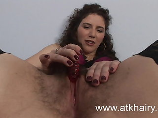 Hairy Sativa Verte Wakes Up Horny Coupled with Masturbates Close to Toys