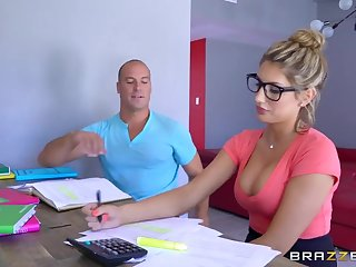 Brazzers - Sexy tweak August Ames needs a study break