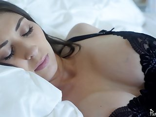 Snotty class glum MILF Angelina Diamanti fucked with a barring plug