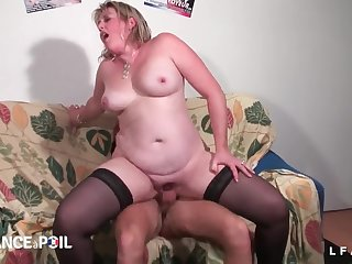 BBWS French cougar abiding fisted with an increment of assfuck
