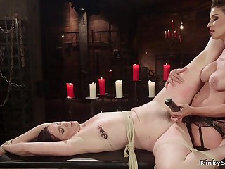 Mistress rides ass sex intimacy strap on on her sub