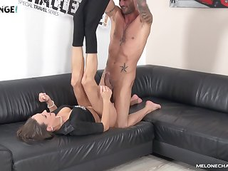 Big dicked stud makes Mea Melone immortalize his throbbing cock